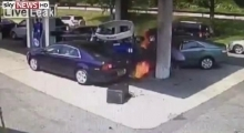 LiveLeak: Off-Duty Cop Saves Man From Gas Station Blast