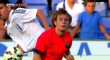 Alen Halilović debut with FC BARCELONA (FCB vs Recreativo)