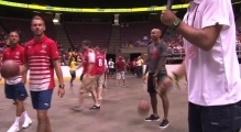 Thierry Henry v Aaron Ramsey in epic basketball shoot-out