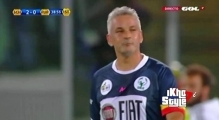 Roberto Baggio Goal - Javier Zanetti XI vs World XI 3-6 - interfaith Match 1-09-2014