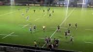 Rugby Streaker Tackles Player Then Starts Brawl And Escapes
