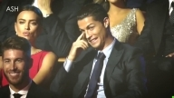 Irina Shayk reaction at a joke about Cristiano Ronaldo 2014