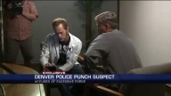 Denver police officer seen tripping pregnant woman, repeatedly punching suspect's face