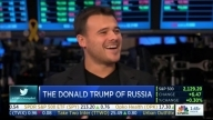 "Emin at ""Closing bell"" on CNBC channel New York"