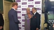 Britain's Prince Harry meets Lady Gaga and Tony Bennett ahead of London charity concert