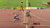 Usain Bolt 19.95 Wins Men's 200m Semifinal 3 - IAAF WC
