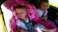 Baby Wakes Up To Dance To Gangnam Style in Car