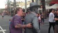 Guy gets punched by street perfer! (Original)