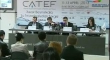 CATEF 2013 Press Conference AzTV RU