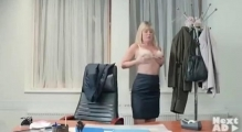 Boss stripping at work- gay test
